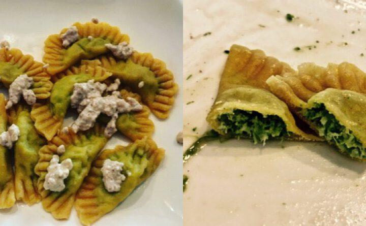 Brokoli-Frischkäse-Ravioli