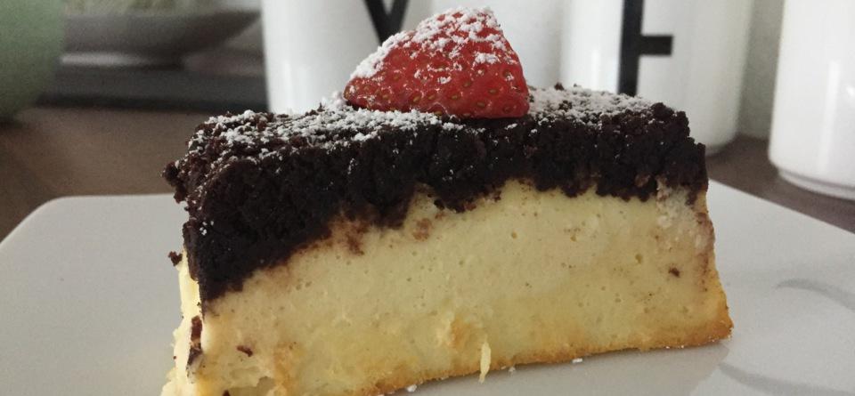 Skyr Cheesecake-Upside-Down-Schnitte